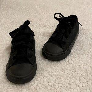 Converse Black Toddler Sz 8 Lace Up Shoe